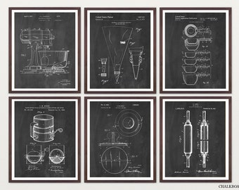 Baking Patent Poster - Baking Art - Baker - Baking Poster - Kitchen Poster - Kitchen Patent - Kitchen Art - Kitchen Wall Art - Cooking Art