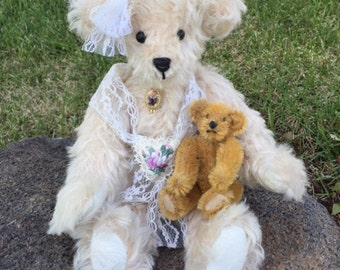 One-of-a-Kind Handcrafted Mohair Teddy Bear