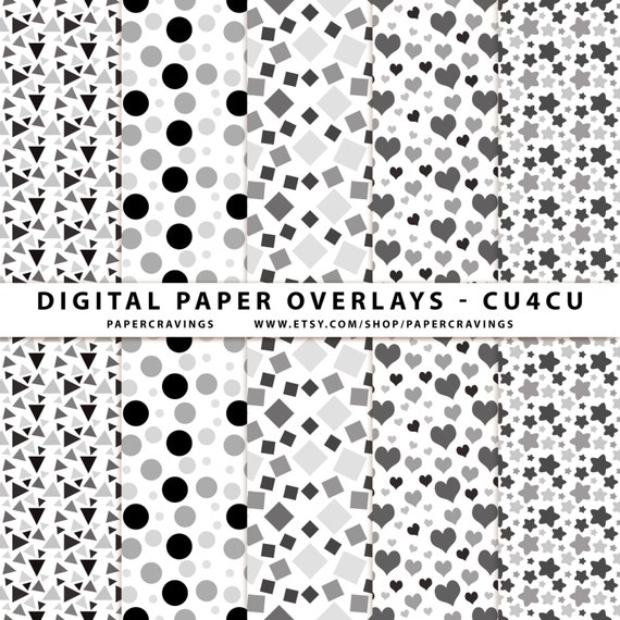 Confetti Digital Paper Overlay Paper repeating pattern photoshop dot star polka dot square heart triangle CU4CU Commercial Use No Credit png