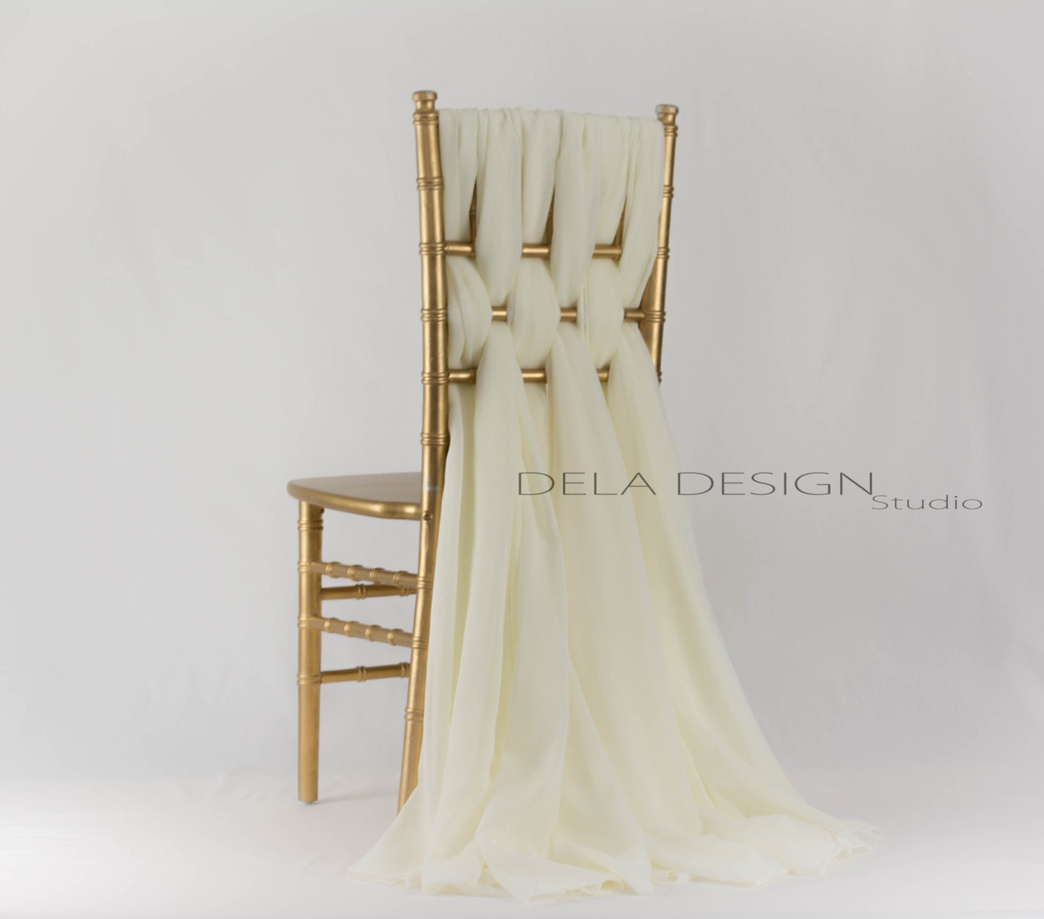 new 2016 look chiffon chair sash wedding chair