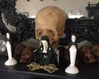 NoN Stop NuN entire Set of Antique Nuns Ceramic Christian Death Antique Religious Figurines Collection