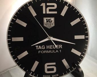Tag Heuer Formula 1 Dial Face Wall Clock, Wall Clock, Christmas Present, Game Room Clock, Man Cave Clock