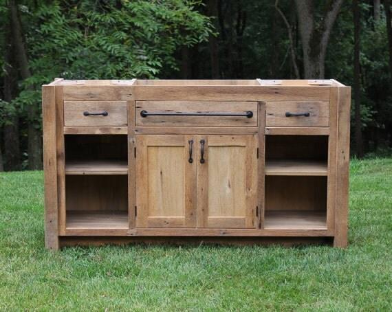 Custom Rustic Vanity 60 Reclaimed Barn Wood Vanity