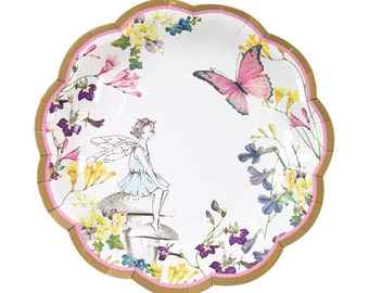 24 Truly Fairy Scallop Edge Plates