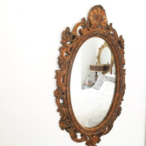 Bathroom mirror ornate mirror baroque mirror by farmhousefare for Baroque bathroom mirror