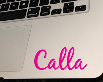 Name Decal for Macbook, macbook air decal, vinyl monogram, laptop decal