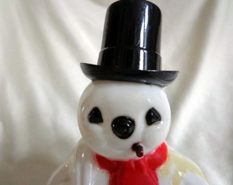 Plastic  Frosty The Snowman, Made by Rosbro Plastics, 1950's, Candy Container  FS