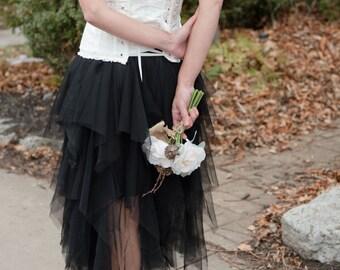 Tulle skirt women tutu skirt adult tulle skirt wedding skirt adult tutu women tulle skirt bridal skirt long tulle skirt party skirt black