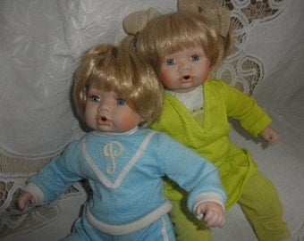 Baby Dolls by Duck Homes Boy and Girl Heirloom