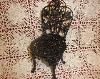 Small Cast Iron Black Chair