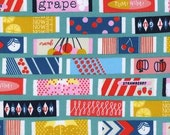 Fat Quarter Fruit Dots Fruit Gum in Blue by Melody Miller for Cotton and Steel