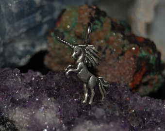 Vintage Unicorn Pendant in Sterling #BKC-CHRM16