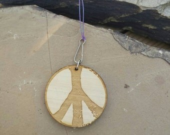 Car Essential Oil Diffuser-Wood Peace Sign