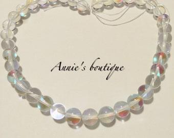Beautiful clear quartz round 12mm strand
