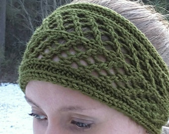 Lacey Knit Headband/Ear-warmer