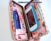 Party Wallet with Frame and Inside Divisions, Digital Sewing Tutorial, PDF Instant Download
