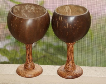 Polished Coconut Wine Cup,  Real Coconut, Coconut Wine Glass, Wine Glass, Coconut Cup, Coconut Drinking Cups Wholesale, Coconut