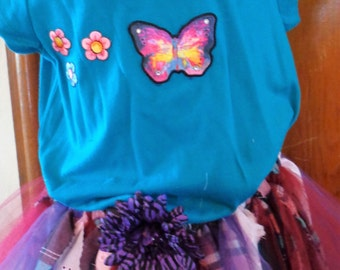Multiple Color Rag Skirt Outfit.  Ready to ship in 7-8