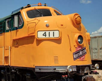 Railroad Art Print - Train Photograph, Miniature Effect, Kids Room Decor, Train Wall Art - Diesel Engine