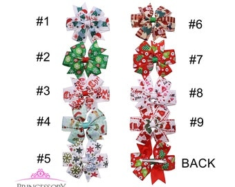 Christmas Hair Bows, Christmas bows, Christmas hair clips, Christmas hairbows, Baby Christmas, santa hairbow, photo prop, baby gift,  CM07