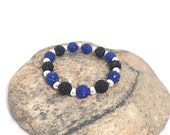 Thin blue line Shelby bracelet