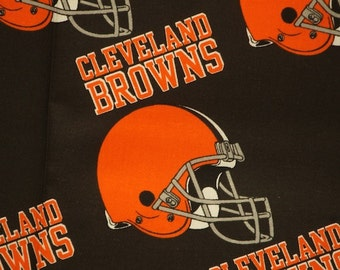 """Cleveland Browns Football Brown Sheeting Fabric Cotton 5 Oz 58-60"""""""
