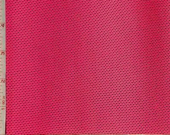 Fuchsia Pink Mesh Knit Fabric 2 Way Stretch Polyester Silicon 6 Oz 58-60""