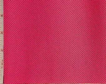 "Fuchsia Pink Mesh Knit Fabric 2 Way Stretch Polyester Silicon 6 Oz 58-60"""