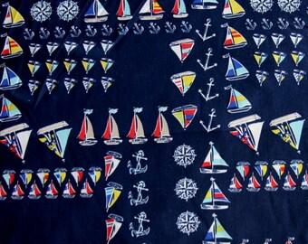 Colorful Sailboats, Anchors & Compass Roses