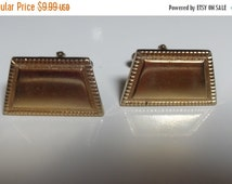 Big Sale Anson Trapezoid gold tone cuff links, vintage signed toggle cufflinks, Father's Day, men's accessories, gifts for men, Gingerslittl