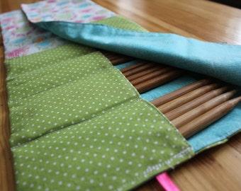 DPN case, knitting needle case, needle organizer, knitting storage, needle case, double point needles