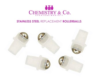 288 Stainless Steel Ball Rollers, Rollon, Roll on Rollerballs Replacement Inserts Housing for Essential Oil, Perfume, Aromatherapy WHOLESALE