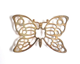 Vintage Silverplate Butterfly Trivet Made in Italy
