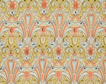 ON SALE 1 yard Victoria and Albert Jones Damask Citron by Westminster Fabrics