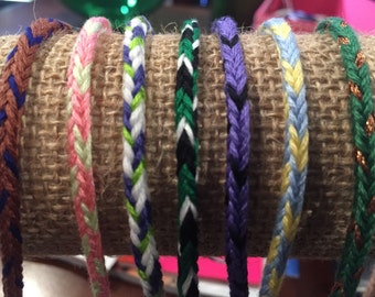 Lot of Handmade Friendship Bracelets-Great Party Favors or Gifts.
