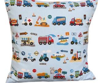 """Klaxon Curtain Fabric Blue 16"""" Cushion Cover"""