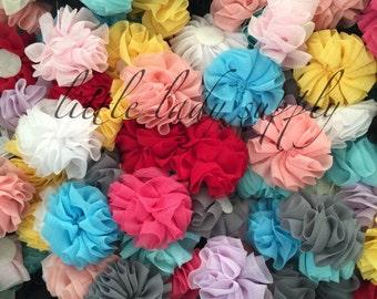 "WHOLESALE 10 Grab Bag Chiffon Ballerina Flowers, 2"", fabric flowers, headbands, embellishments"