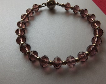 Simple Crystal Bracelet with magnetic clasp