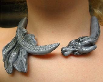 Daenerys Targaryen Dragon Necklace - Khaleesi Collar Necklace- Game of Thrones