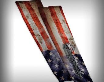 Compression Sleeve Arm Sleeve - Flag