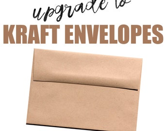 Upgrade your envelopes to KRAFT.