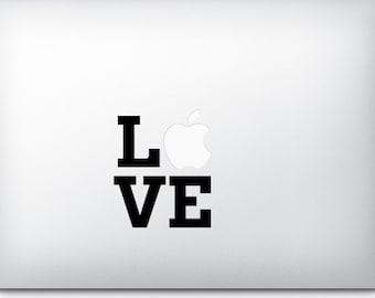 LOVE - Mac Apple Logo Cover Laptop Macbook Ipad Iphone Vinyl Decal Sticker