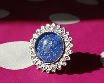 Blue Galaxy Ring
