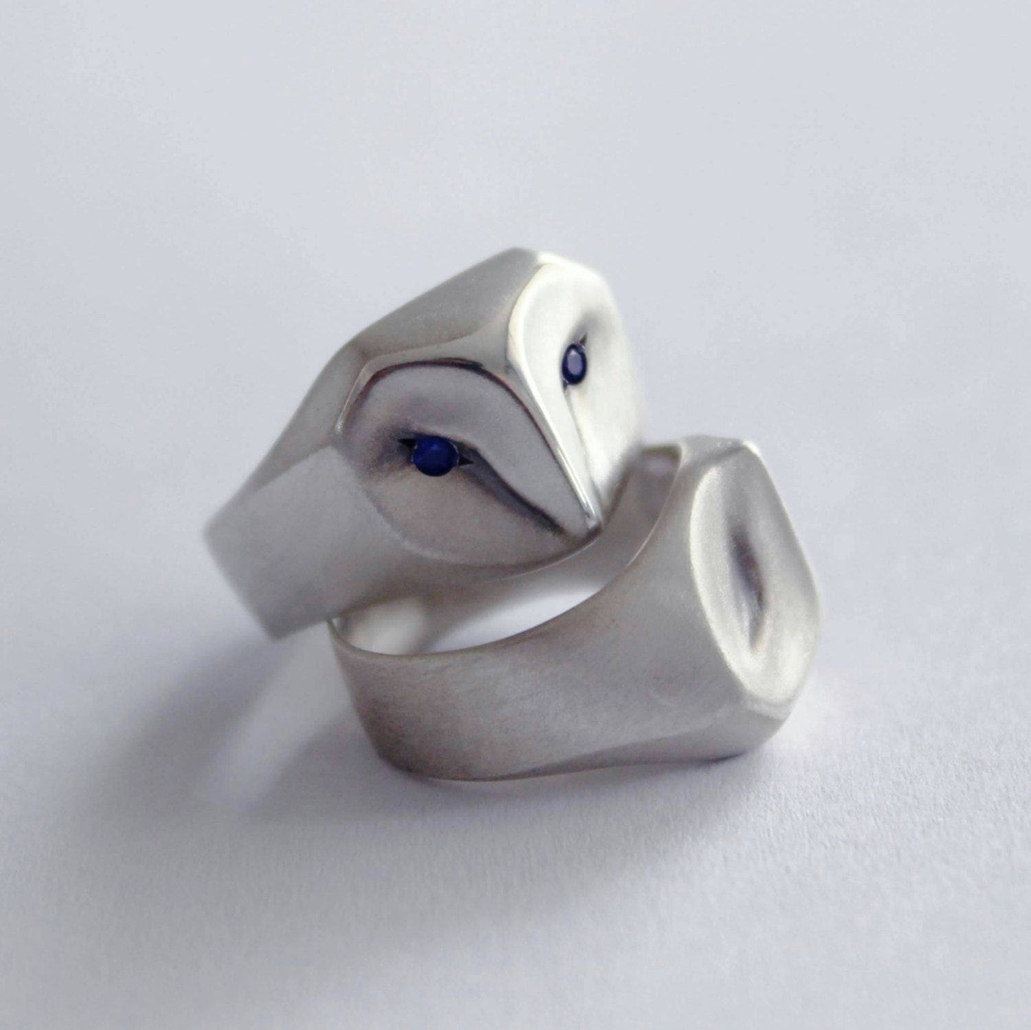 Sterling Silver Barn Owl Ring