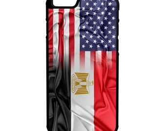 Egypt Us Flags iPhone Galaxy Note LG HTC Hybrid Rubber Protective Case