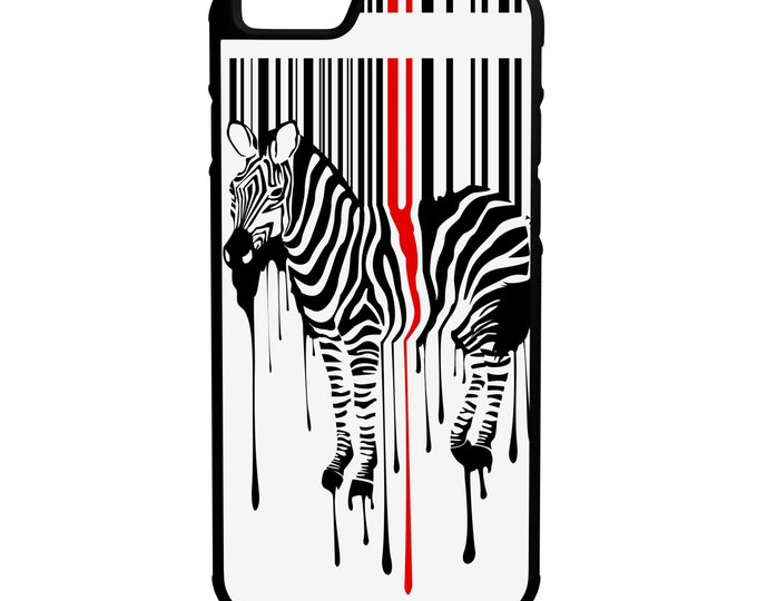 Zebra Barcode iPhone Galaxy Note LG HTC Hybrid Rubber Protective Case