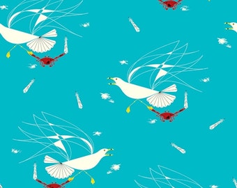 Maritime - Seagull and Crab - Charley Harper - Birch Fabrics (CH-37) - Organic Cotton