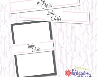 Pink & Gray - Printable Wedding Invitation Band