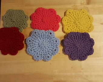 6 Set Flower Coasters