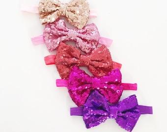 The Sequin bow headband